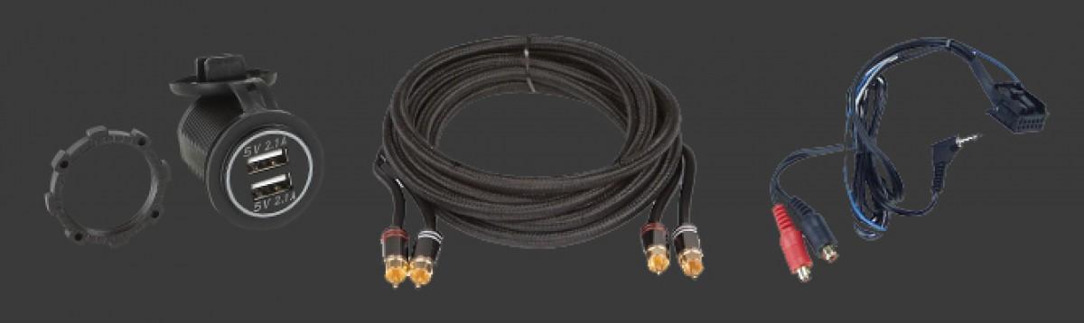 Cinch- USB- Video- High-Low- Audio- Kabel/Lader