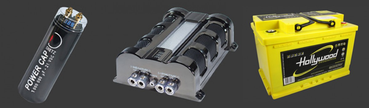 Powercap / Batterie / Entstörmaterial