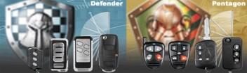 PKW Alarmsysteme mit Fernbedienungen