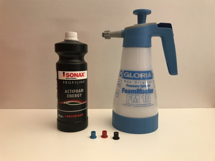 Gloria FoamMaster FM 10 Schaumsprüher + SONAX PROFILINE ActiFoam Energy
