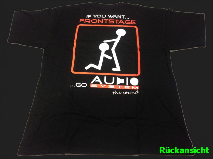 "Audio System T-Shirt ""Frontstage"" in XL"