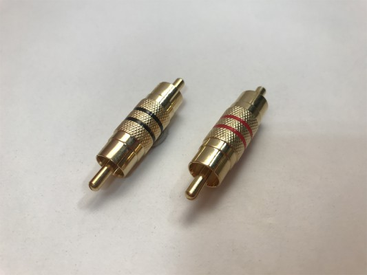 AUDIO SYSTEM HIGH-END Cinchstecker Male/Stecker (2 Stück)