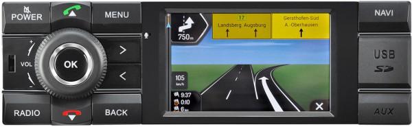 "AXION ""MCR 1031NAV CAR"" 1DIN Navigationsradio mit DAB+, Bluetooth, iPod, Rückfahrkamera für PKW"