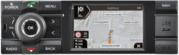 "AXION ""MCR 1031NAV TRUCK"" 1DIN Navigationsradio mit DAB+, Bluetooth, iPod, Rückfahrkamera für LKW"