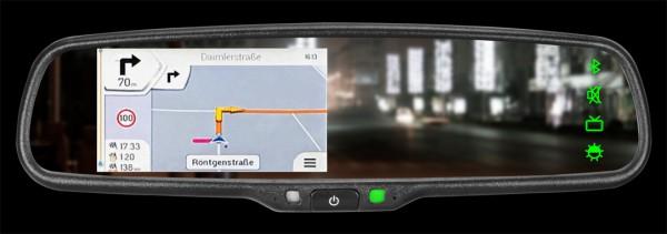 "AXION ""VRM 4304 NAV"" 4,3"" (10,9cm) Rückspiegelmonitor mit integrierter Navigation"