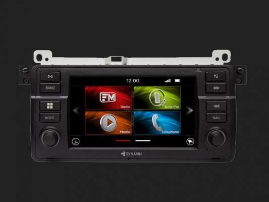 "DYNAVIN 7""(17,8cm) Navy Ready Multimediagerät ""Flex"" für BMW 3er E46 Inkl. DAB+"