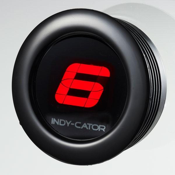 Gaslock Zusatzinstrument INDY-CATOR - Dash - Ring in schwarz