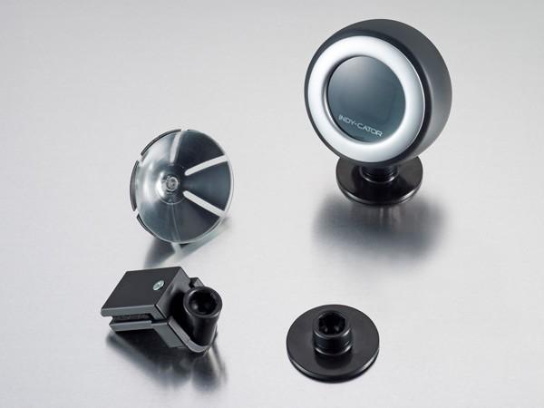 Gaslock Zusatzinstrument Befestigungs-Kit schwarz glänzend