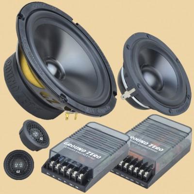"GROUND ZERO RADIOACTIVE ""GZRC 165.3SQ"" 165 mm 3-Wege SQ Komponenten-Lautsprechersystem"