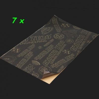"GROUND ZERO Polymer-Dämmung ""GZDM 1400NB-GOLD"" Shop Pack (7 x 570x350x3,0mm) 1,4m²"