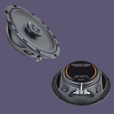 "GROUND ZERO IRIDIUM ""GZIF 6501FX"" 165 mm 2-Wege Koaxial-Lautsprechersystem FLAT"