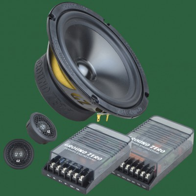 "GROUND ZERO RADIOACTIVE ""GZRC 165.2SQ"" 165mm 2-Wege Komponenten-Lautsprechersystem"