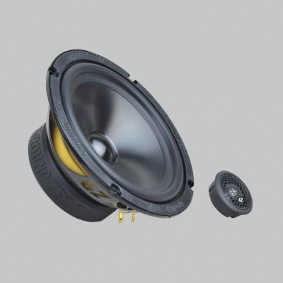 """GROUND ZERO RADIOACTIVE """"GZRC 165.2SQ-ACT"""" 165 mm 2-Wege SQ Komponenten-Lautsprechersystem für Aktivbetrieb"""