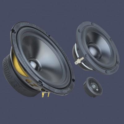 """GROUND ZERO RADIOACTIVE """"GZRC 165.3SQ-ACT"""" 165 mm 3-Wege SQ Komponenten-Lautsprechersystem für Aktivbetrieb"""