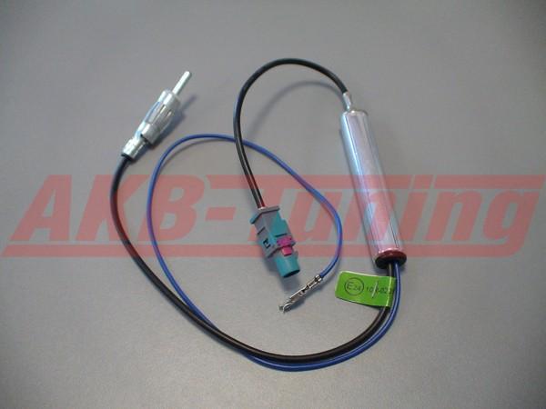 c-quence DIN-Antennenadapter Fakra (Z) mit Phantomeinspeisung (Audi, VW, Seat, Skoda, Citroen)