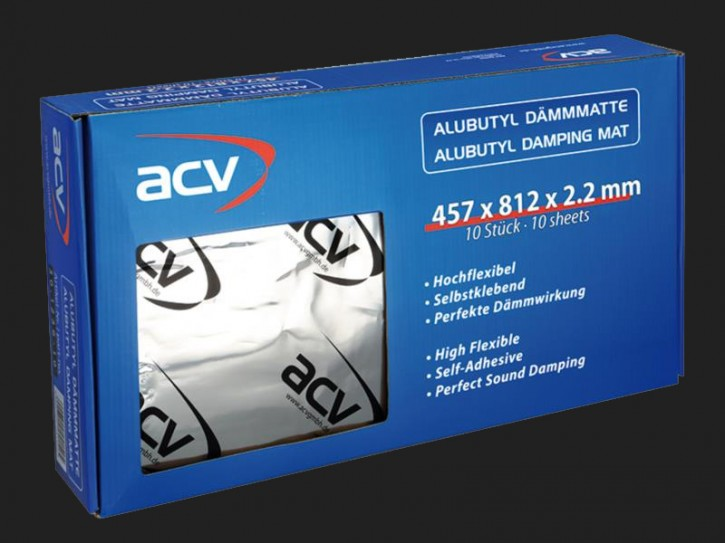 ACV Alu Butyl Dämmmatte 457 x 812 x 2.2 mm (10 Stück)