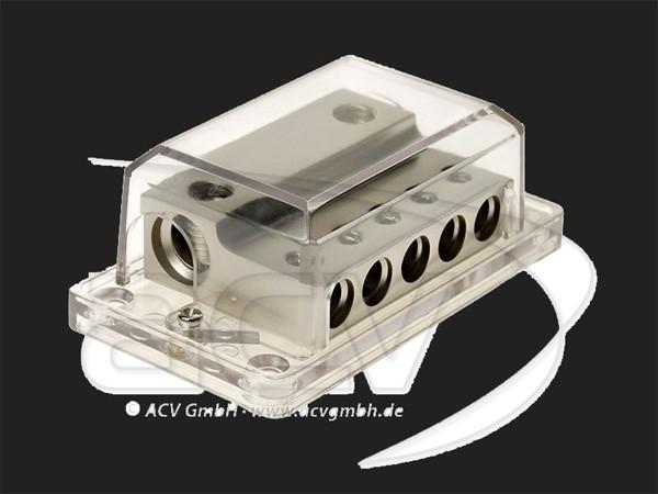 ACV Verteilerblock 2 x 35 - 50 mm² Eingang 5 x 20 mm² Ausgang (silber)