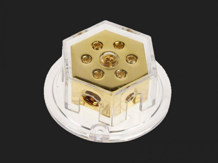ACV Verteilerblock 2 x 50 mm² / 4 x 20 mm² (gold)