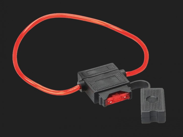 ACV ATC Sicherungshalter mit 10 A Sicherung /30 cm Kabel rot