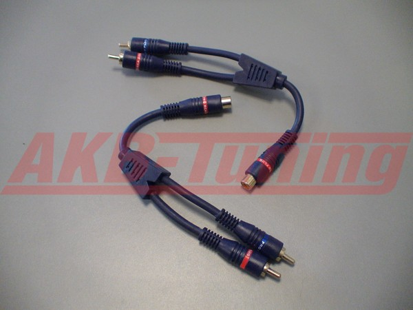 ACV Y-Kabel 2xStecker/ 1Buchse (2Stück) (Abverkauf)
