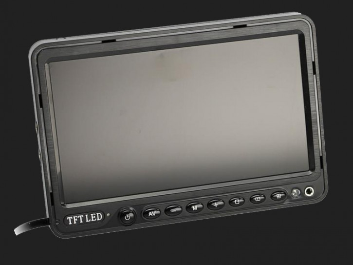 "ACV 7"" (17,8cm) Monitor (12V) universal 16:9 (1 RFK + 2 AV Eingänge)"