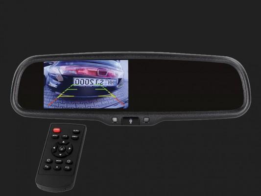"ACV 4,3"" (10,9cm) Spiegelmonitor (12V) universal 16:9 (1 RFK + 1 Video Eingang) extrem hell"