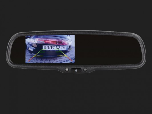 "ACV 4,3"" (10,9cm) Spiegelmonitor (12V) universal 16:9  (1 RFK + 1 Video Eingang) selbstabdimmend"