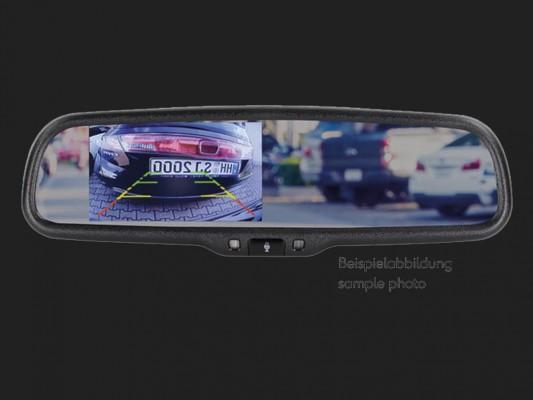 "ACV 7,2"" (18,3cm) Spiegelmonitor (12V) universal 16:9  (4 RFK/Video Eingang + 1 AHD Kamera Eingang) extrem heller Splitscreen"