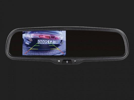 """ACV 4,3"""" (10,9cm) Spiegelmonitor (12V) universal 16:9  (1 RFK + Option auf Navigation + Bluetooth Freisprecheinrichtung)"""