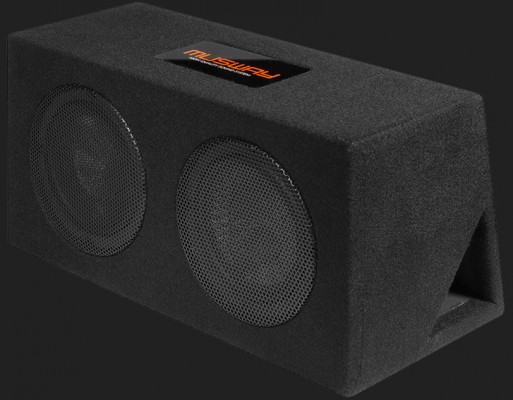 "MUSWAY ""MR208Q"" DUAL-BASSREFLEX-SYSTEM MIT ZWEI 20CM(8"") SUBWOOFERN Max. Power 800Watt"
