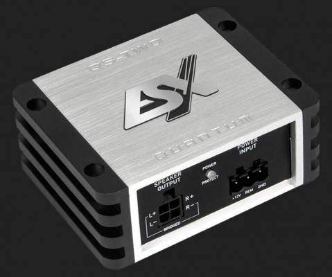 "ESX QUANTUM ""QS-TWO-ISO"" 2-Kanal NANO VERSTÄRKER inkl. ISO Kabelsatz Max. Power 380W (B-Ware)"
