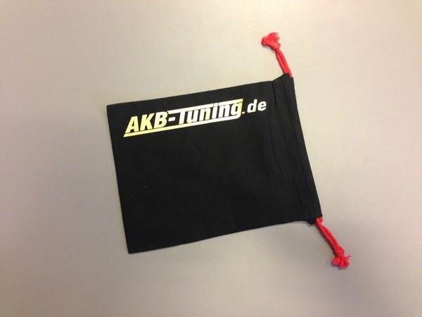 AKB-Tuning schwarzer Schraubenbeutel für Radbolzen Schrift in GOLD glänzend