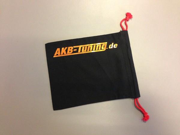 AKB-Tuning schwarzer Schraubenbeutel für Radbolzen Schrift in KUPFER glänzend