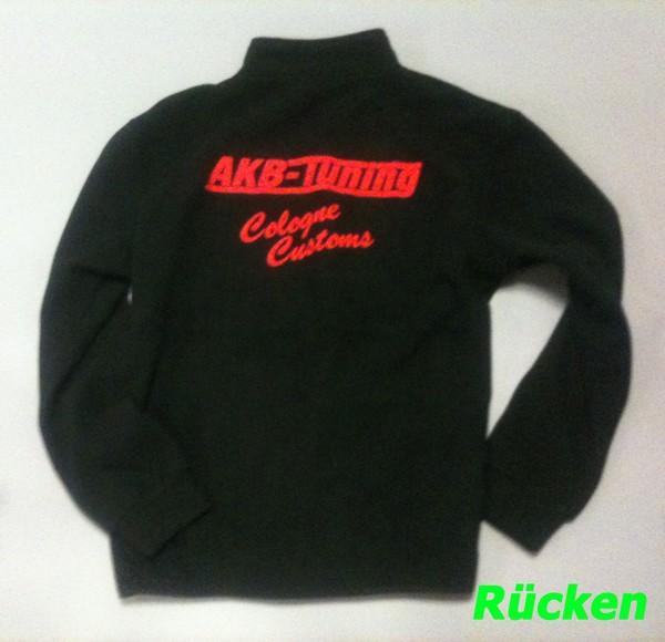AKB-Tuning Teamwear Fleece-Jacke in schwarz mit rotem Logo (Größe S)