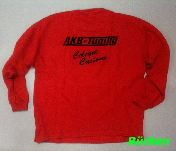 AKB-Tuning Teamwear Sweatshirt in rot mit schwarzem Logo (Größe S)