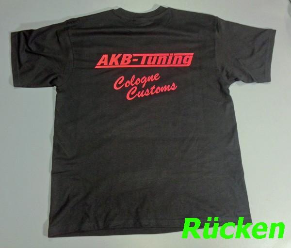 AKB-Tuning Teamwear T-Shirt in schwarz mit rotem Logo (Größe S)