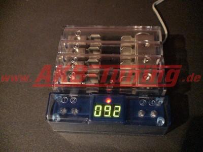Alfatec Verteilerblock 2x20mm in  4x10mm out Inkl. Spannungsanzeige