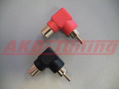 Alfatec Cinchadapter rechtwinkelig 1x rot/1x schwarz