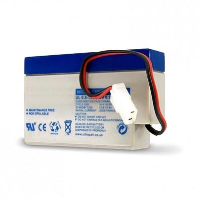 """AMPIRE Ersatzbatterie für Notstromversorgung """"AMP-520T"""" 12 Volt, 0.8Ah"""