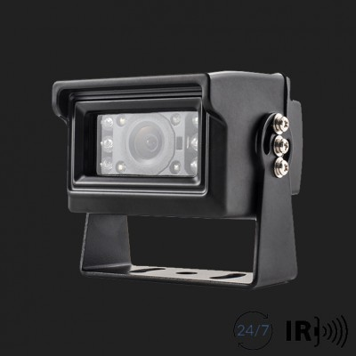 AMPIRE Farb-Rückfahrkamera, NTSC, Schwarz, Aufbau, gespiegelt/normal, 10m