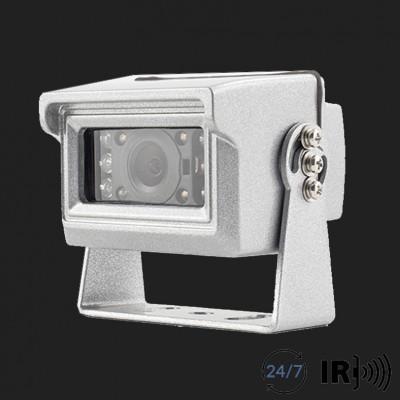 AMPIRE Farb-Rückfahrkamera, NTSC, silber, Aufbau, gespiegelt/normal, 10m