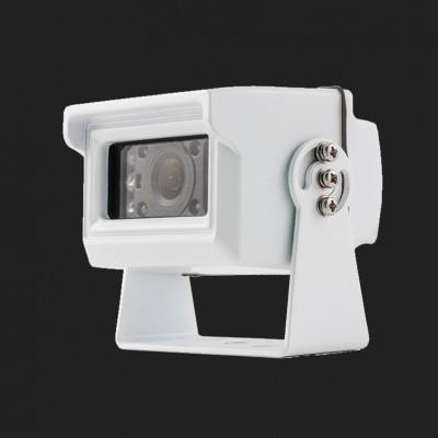 AMPIRE Farb-Rückfahrkamera, NTSC, weiss, Aufbau, gespiegelt/normal, 10m