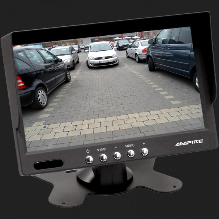 AMPIRE TFT-Monitor 17.8cm (7'') mit 2 Eingängen 12-24V