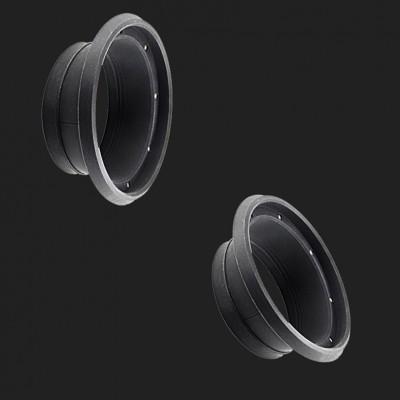 AMPIRE Schallwand-Dichtung für 165mm Lautsprecher inkl. Schallabsorber