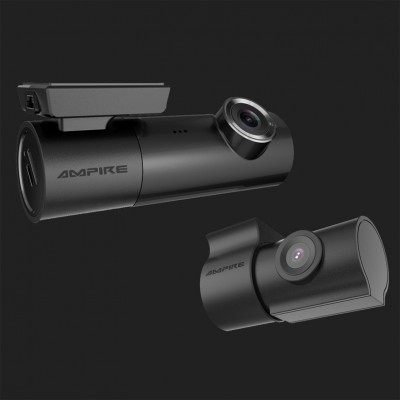 AMPIRE Dual-Dashcam in Full-HD, WiFi und GPS inkl. 16GB Micro SD