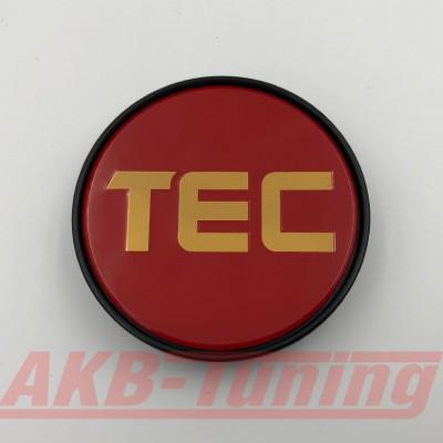 TEC Nabenkappe in rot / Logo gold für GT2 EVO, GT6 EVO, GT7, GT8, GT-EVO, GT-EVO-R