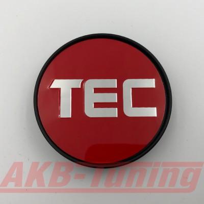 TEC Nabenkappe in rot / Logo silber für GT2 EVO, GT6 EVO, GT7, GT8, GT-EVO, GT-EVO-R