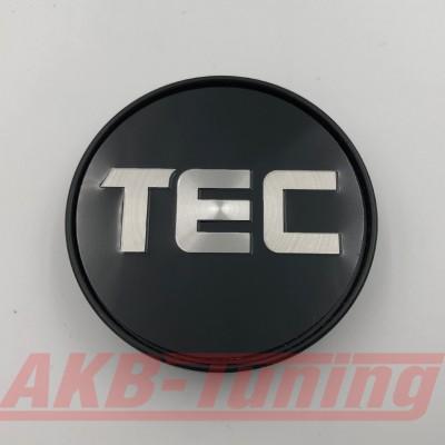 TEC Nabenkappe in schwarz / Logo silber für GT2 EVO, GT6 EVO, GT7, GT8, GT-EVO, GT-EVO-R
