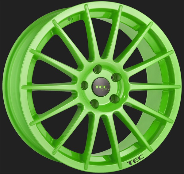 "TEC Alufelge AS2 in 8,0 X 18"" Race Light Green (4 & 5-Loch)"