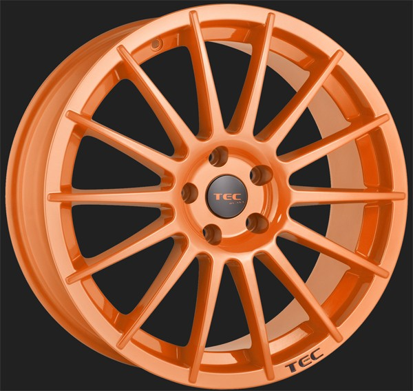 "TEC Alufelge AS2 in 8,0 X 18"" Race Orange (4 & 5-Loch)"